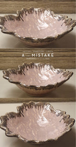 Load image into Gallery viewer, A Tiny Mistake Pink Uneven Decorative Ceramic Serving Bowl