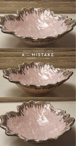 A Tiny Mistake Pink Uneven Decorative Ceramic Serving Bowl