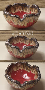 Load image into Gallery viewer, A Tiny Mistake Red Decorative Small Ceramic Serving Bowl