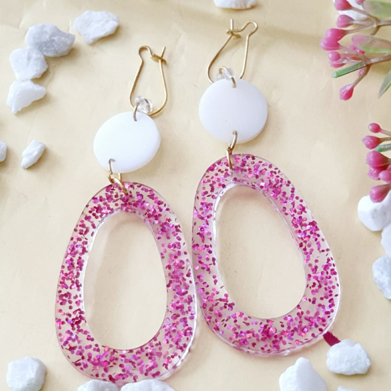 Splash of Pink Earrings
