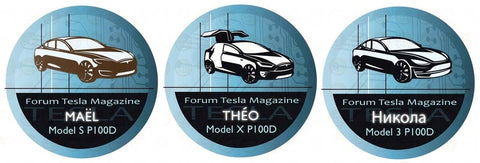 Badge Tesla Magazine