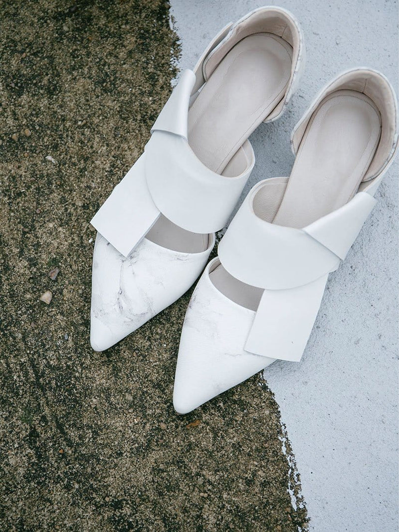 Marble Pattern Knot Shoes - WHY NOT?