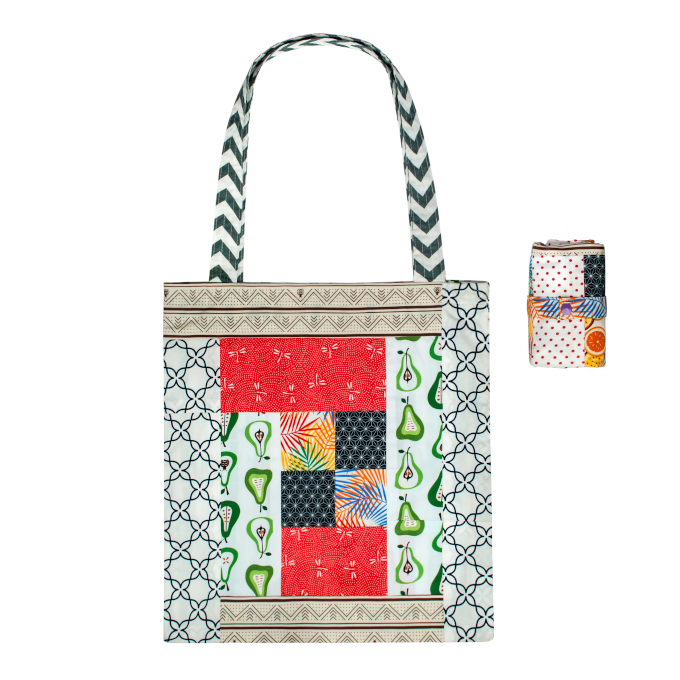Superbee: Patchwork Tote Bag