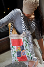 Load image into Gallery viewer, Superbee: Patchwork Tote Bag