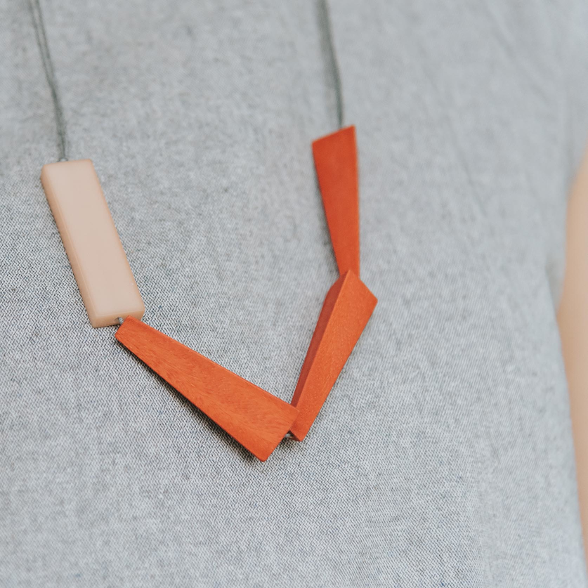 WoonHung: Quadrangle Q1 Adjustable Necklace