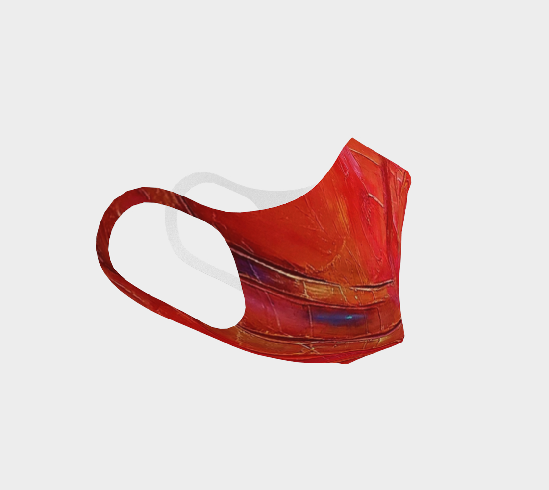 face masks, art apparel, face cover, fashion accessory, red mask