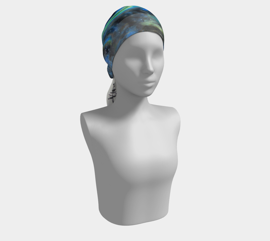 head scarf, art apparel, fashion accessory, silk scarf, womens clothes, black and white scarf, hair scarf, hair accessory, black and white hair scarf, black and white hair accessory, headscarf