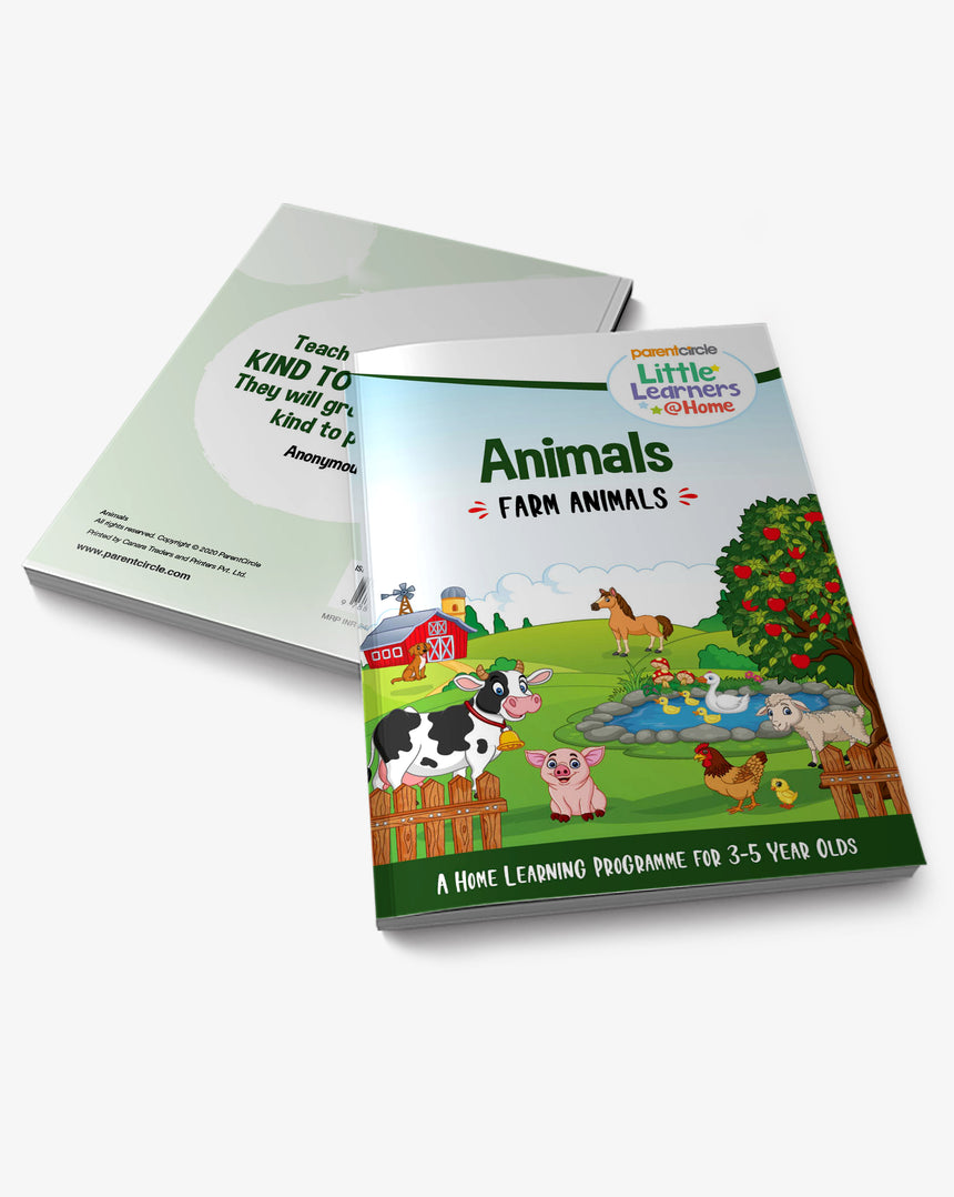 Farm Animals Activity Book for 3-5 Year Olds
