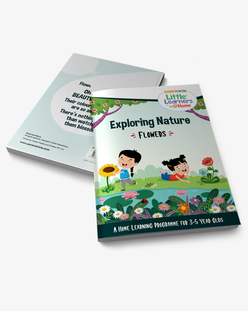 Flowers Activity Book for 3-5 Year Olds