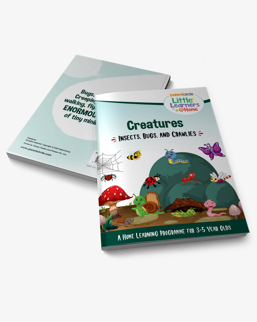 Insects, Bugs and Crawlies Activity Book for 3-5 year olds