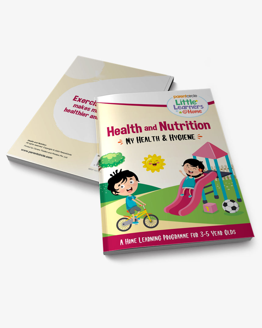 My Health and Hygiene Activity Book for 3-5 Year Olds