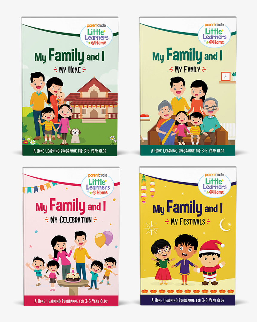 Little Learners@Home Book Series: My Family and I (Bundle of 4 Books)