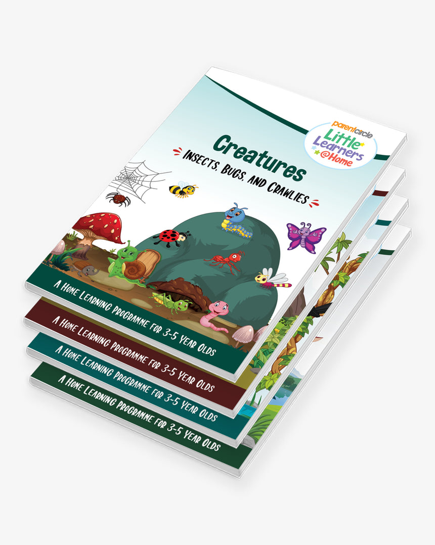 Little Learners@Home Book Series: Creatures (Bundle of 4 Books)