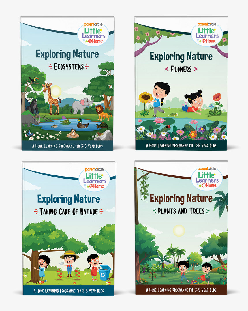 Little Learner@Home Book Series: Exploring Nature (bundle of 4 books)
