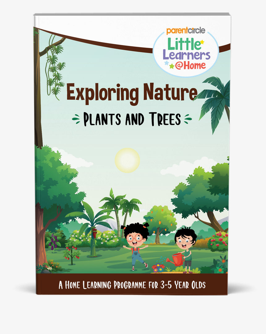 Plants and Trees Activity Book for 3-5 Year Olds