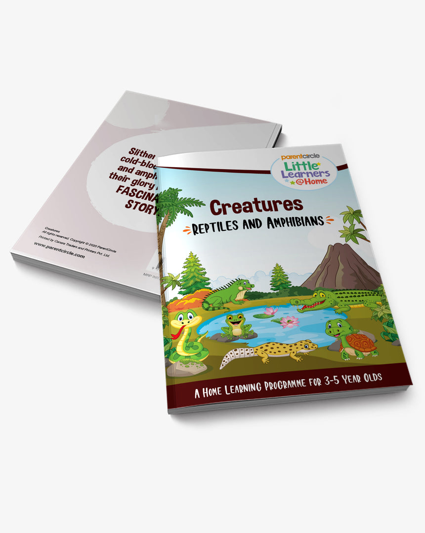 Reptiles and Amphibians Activity Book for 3-5 year olds