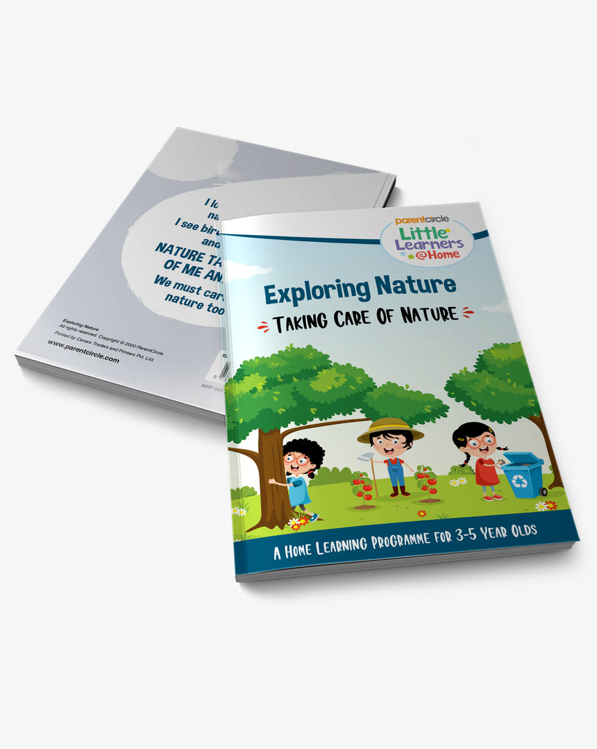 Taking Care Of Nature Activity Book for 3-5 year olds