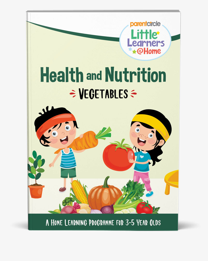 Vegetables Activity Book for 3-5 Year Olds