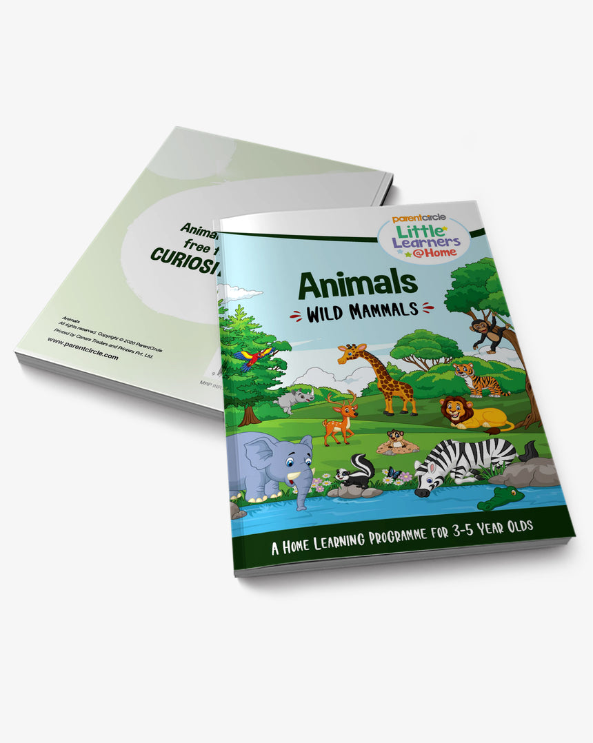 Wild Mammals Activity Book for 3-5 year olds