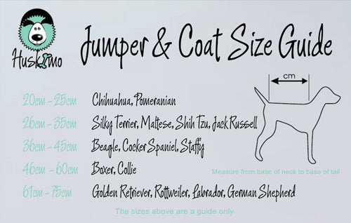 Huskimo Cableknit Size Guide