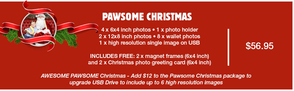 Pawesome Christmas pet photo package available