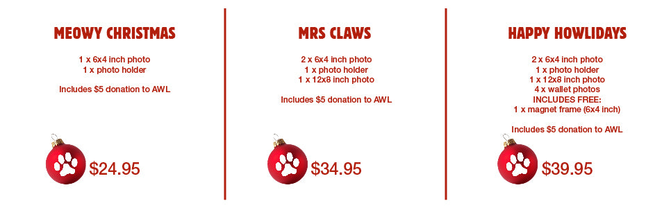 Santa Paws 2016 Pet Photo packages available at Kellyville Pets