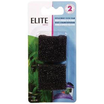 Elite Mini Replacement  50 Foam Filter Insert 2pk