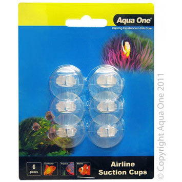 Aqua One Air Line Suction Cups 6pk
