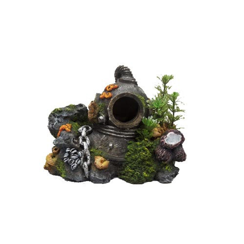 Divers Helmet With Plants Small