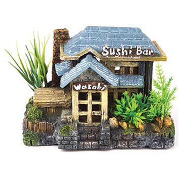 Kazoo Sushi Bar with Plants Medium 15.5cm