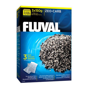 Fluval Zeo-Carb 3x150g Mesh Bags