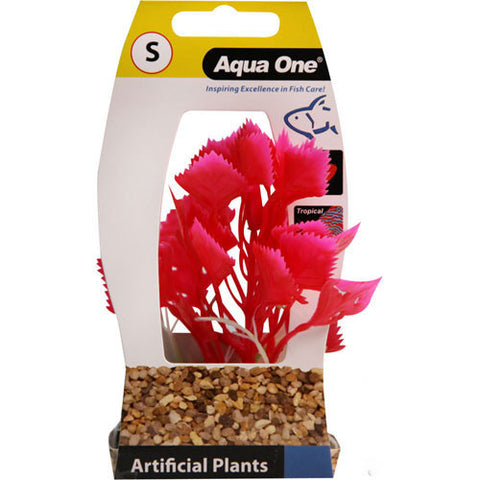 Plastic Plant Red Hygrophilia Small