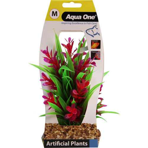 Plastic Plant Red Ludwigia Medium