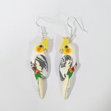Earrings Cockatiel Pied