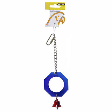 Bird Toy Acrylic Mirror with bell