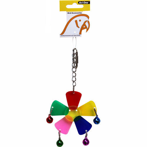 Avi One Bird Toy Acrylic Plum Blossom with Bells