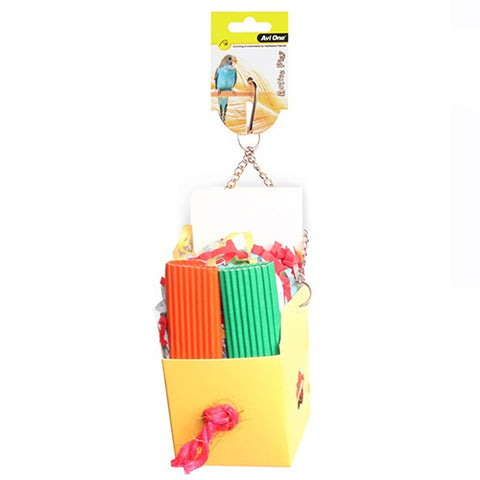 Bird Toy Box With Paper&Popsicles 25cm