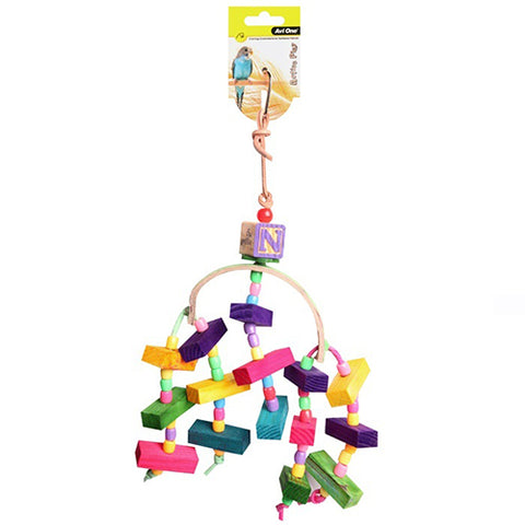Bird Toy Arc With Wooden Blocks 34cm
