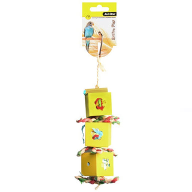 Bird Toy Boxes With Paper&Beads 37cm