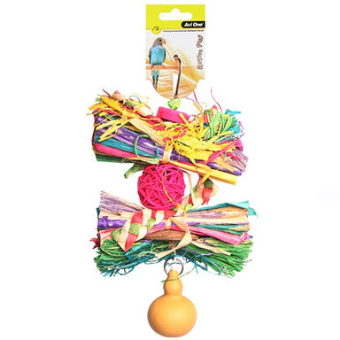 Bird Toy Rattan Ball Raffia&Gourd 25cm
