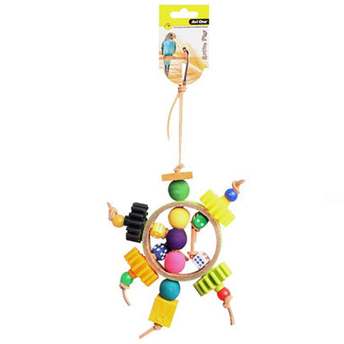 Bird Toy Paper Ring With Beads 27cm