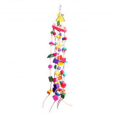 Bird Toy Windchime Leather Rope 94cm