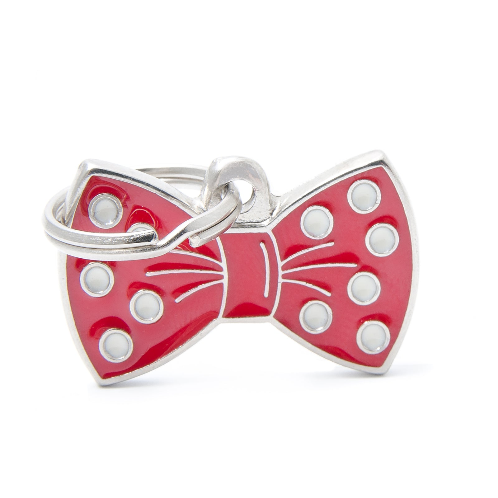 Pet Tag Charm Red Bow