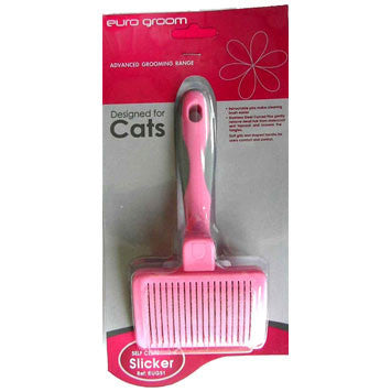 Euro Groom Slicker Cat Self Clean Small