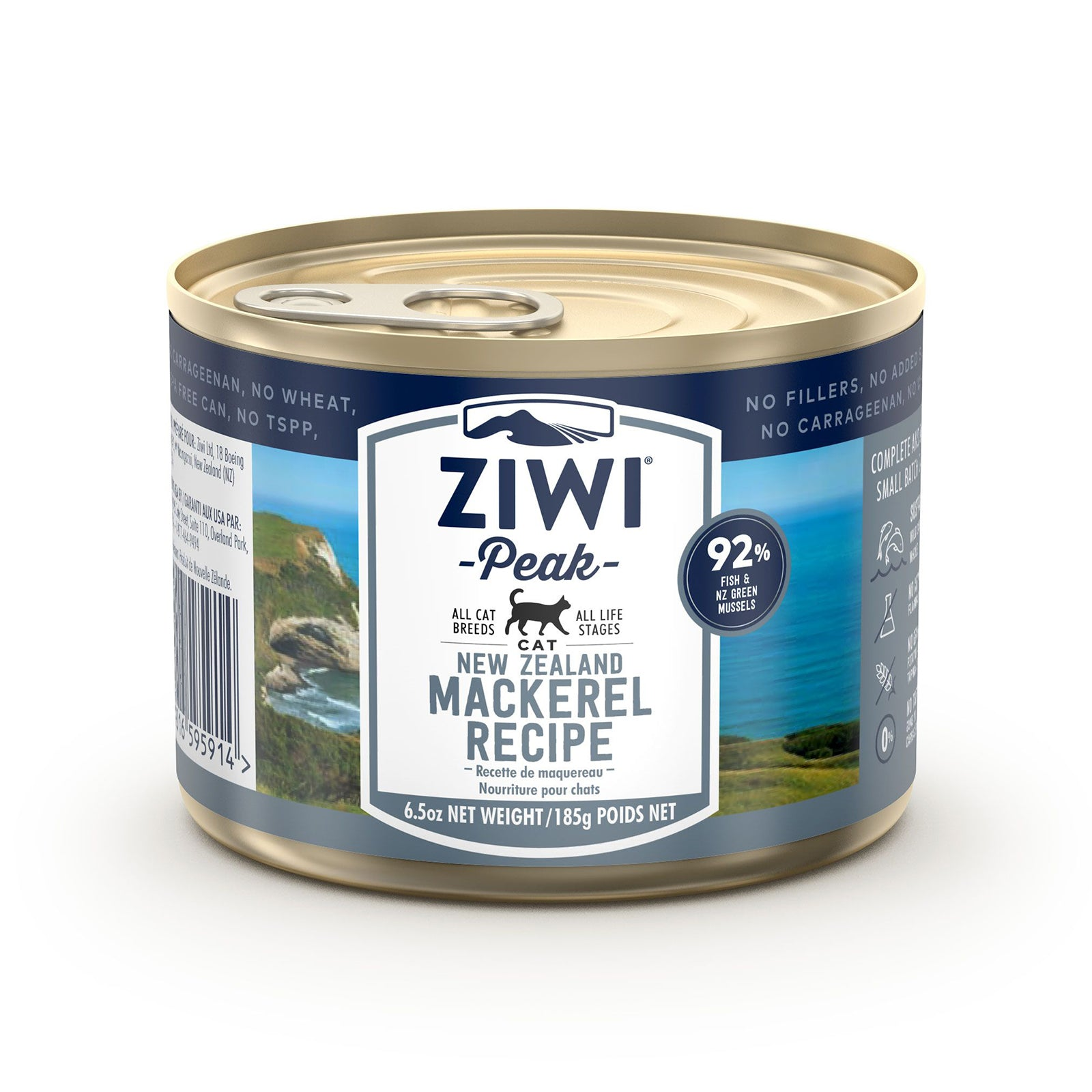 Ziwi Peak Cat Food Can Mackerel 185g