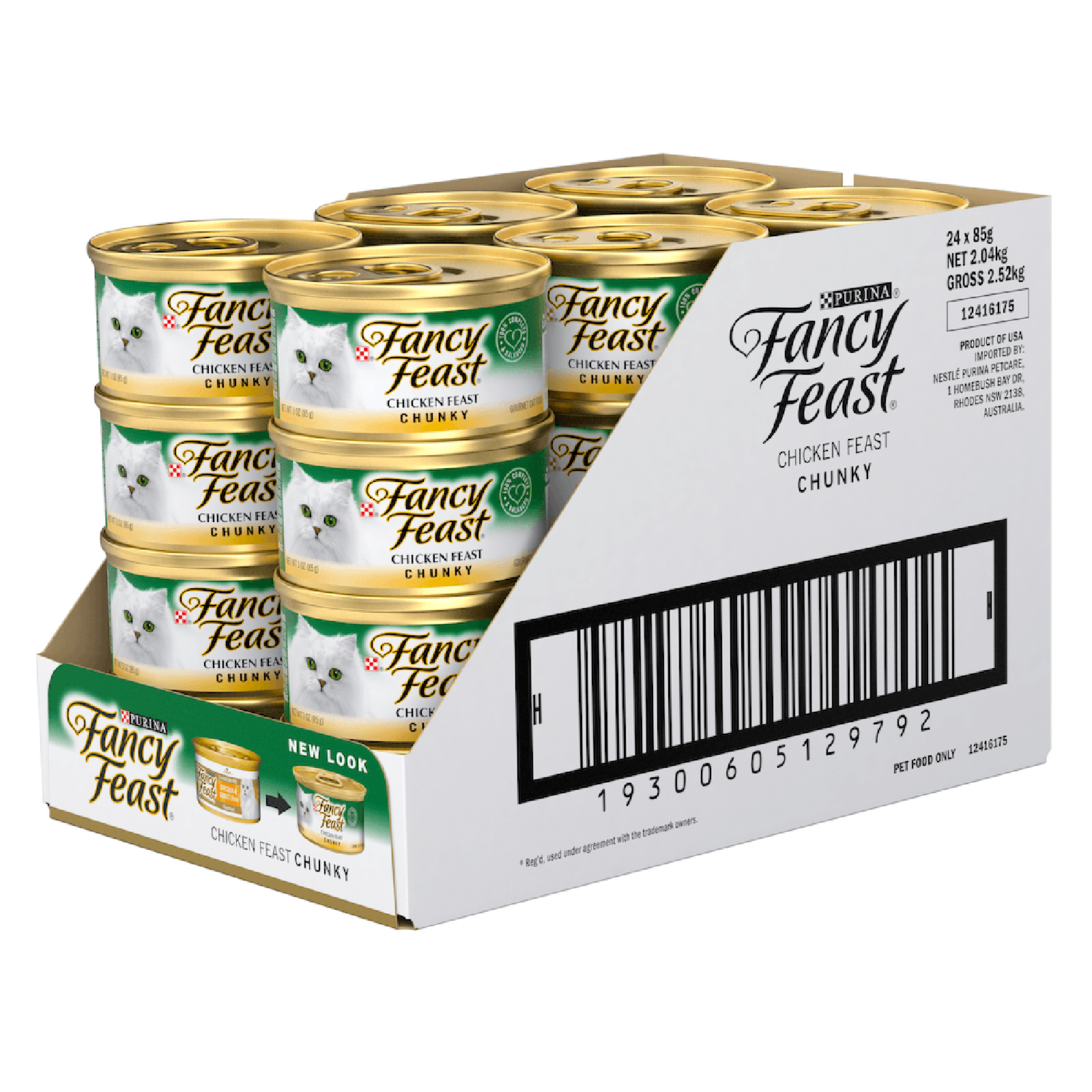 Fancy Feast Cat Food Can Adult Chunky Chicken Feast