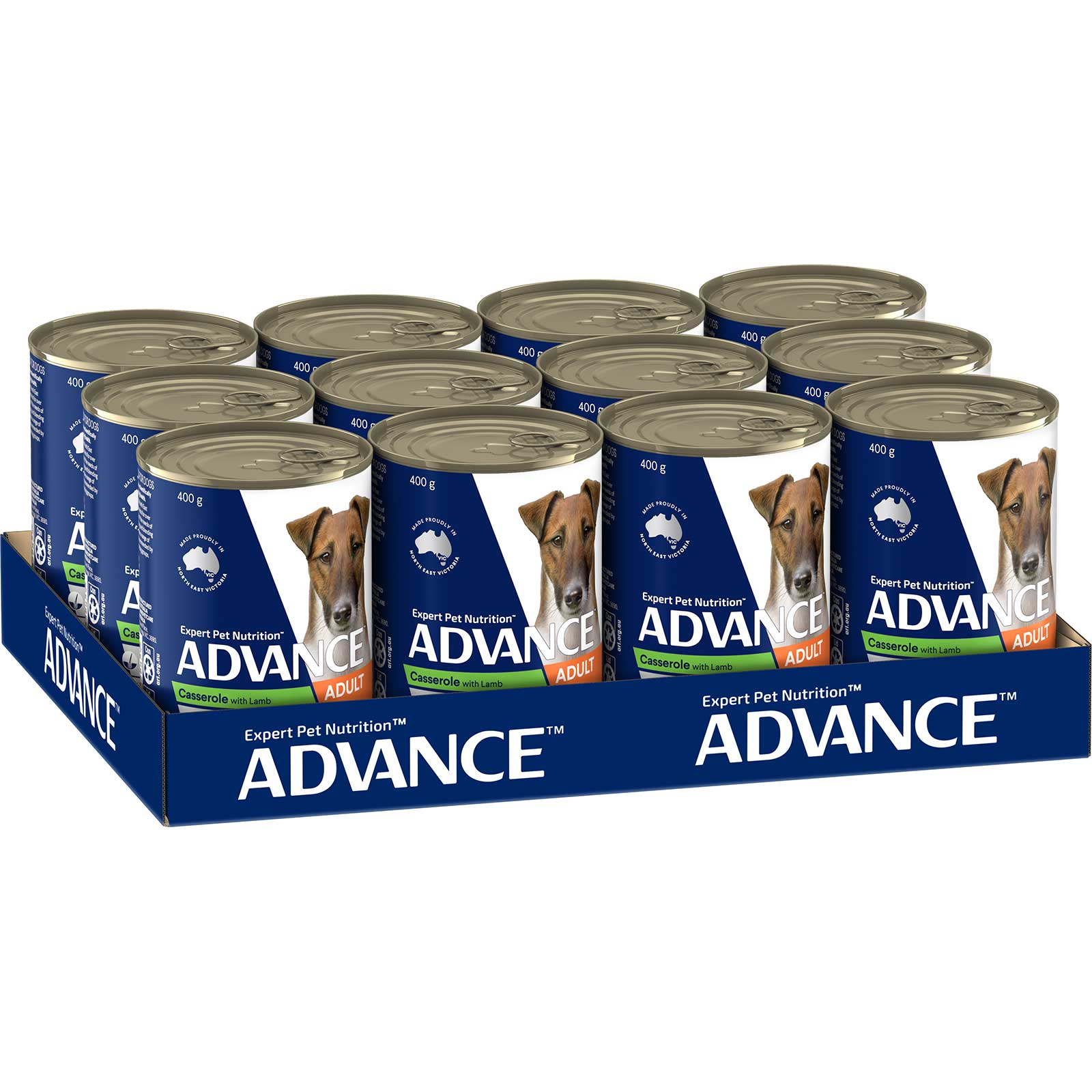 Advance Dog Food Can Adult Casserole with Lamb
