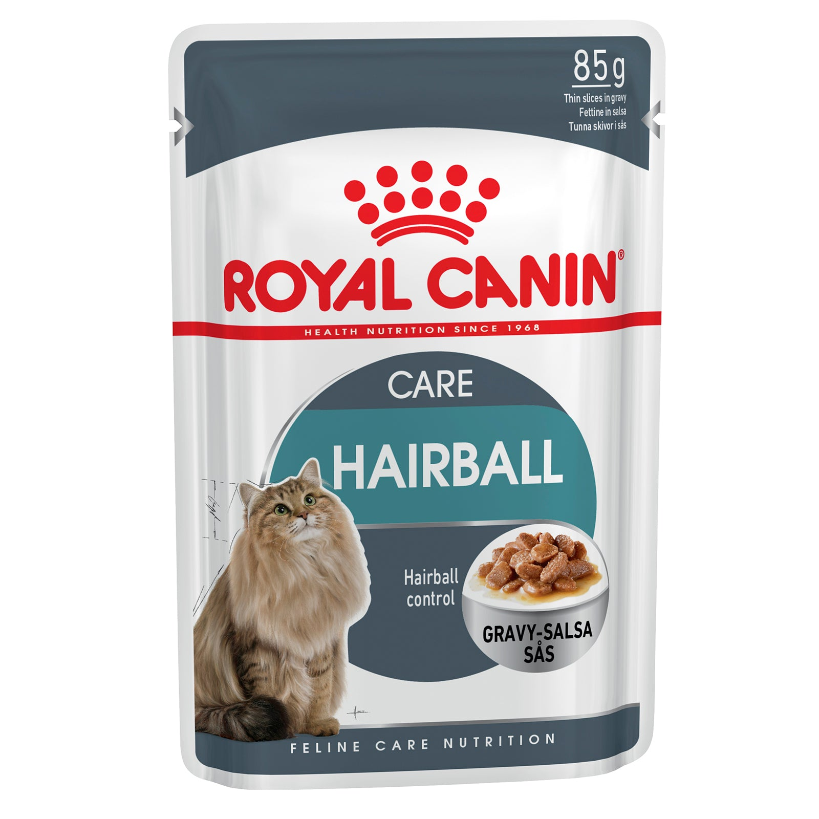 Royal Canin Cat Food Pouch Adult Hairball Care in Gravy