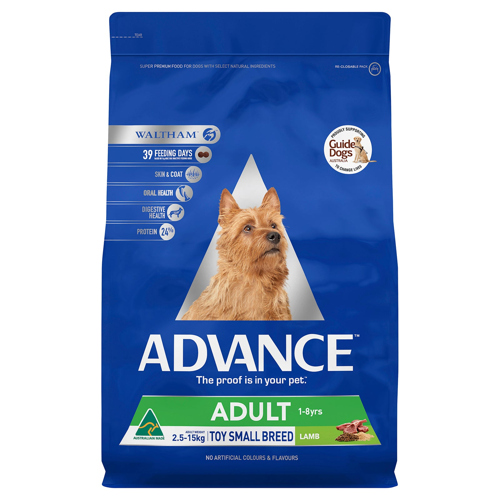 Advance Dog Food Adult Small Breed Lamb with Rice