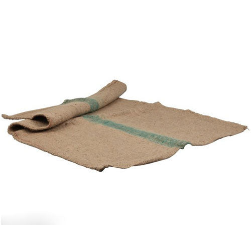 Hessian Dog Bed Cover Green Stripe